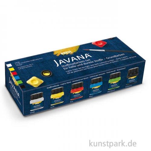 KREUL Javana Stoffmalfarben Opak Grundfarben - 6 x 20 ml