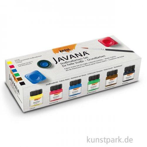 KREUL Javana Stoffmalfarben für helle Stoffe Grundfarben 6 x 20 ml