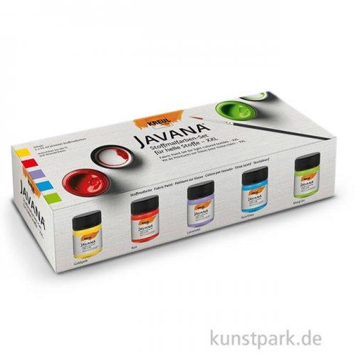 KREUL Javana Stoffmalfarben für helle Stoffe XXL 5 x 50 ml