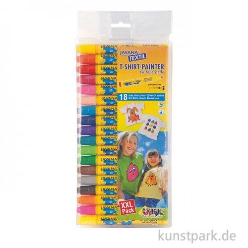 JAVANA Textil Texi Mäx Sunny-Set - 18 Stoffmalstifte