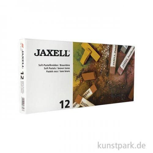 JAXELL Pastellkreide, 12 Brauntöne im Kartonetui