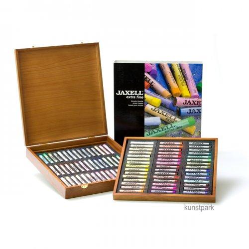 JAXELL Pastell extra fein, 90 Kreiden im Holzkasten