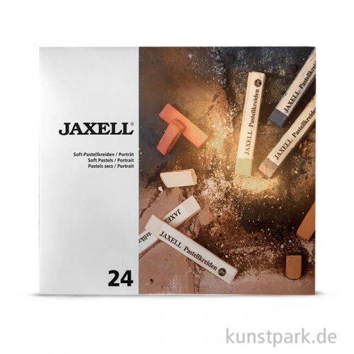 JAXELL Pastellkreide, 24 Portrait-Töne im Kartonetui