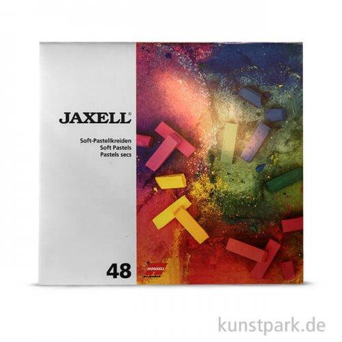 JAXELL Pastellkreide, 48 halbe Stifte im Kartonetui