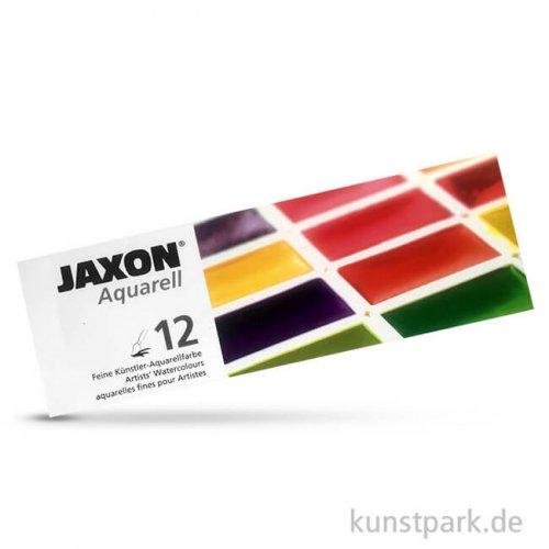 JAXON Aquarell, 12 ganze Näpfchen im Metallkasten