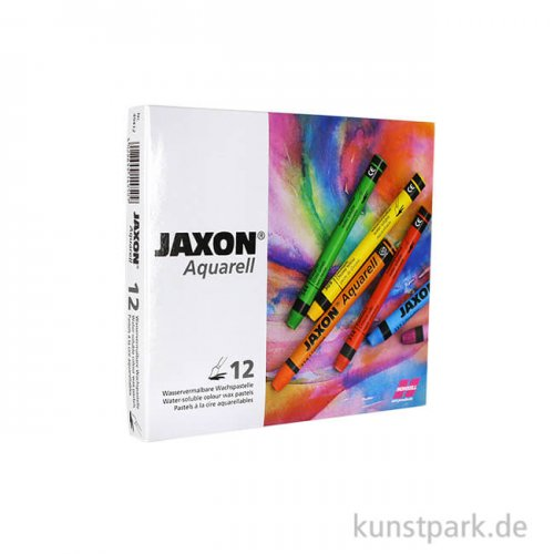 JAXON Aquarell Pastell, 12 Stifte im Kartonetui