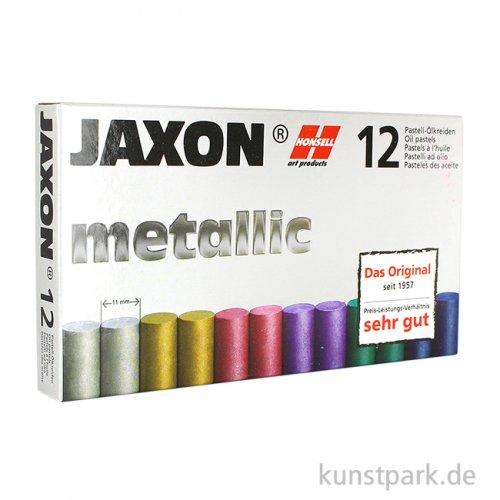 JAXON Ölpastellkreide Metallic, 12 Stifte im Kartonetui