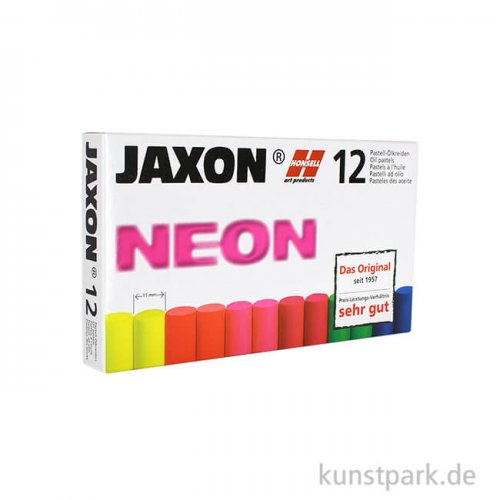 JAXON Ölpastellkreide Neon, 12 Stifte im Kartonetui