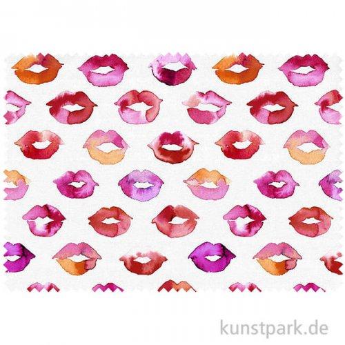 Jersey - Küsse Rot - 1 m x 1,45 m