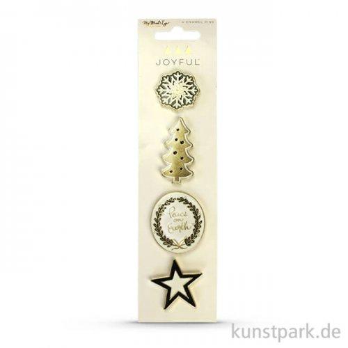 Joyful Collection - Emaille Pins, 4 Stück