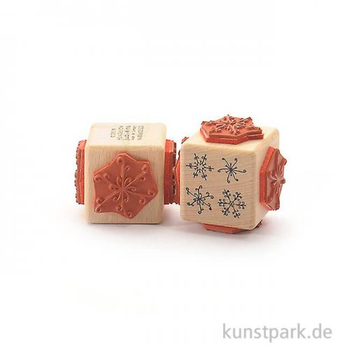 Judi-Kins Stamps - 4 Zierliche Schneeflocken - Würfel