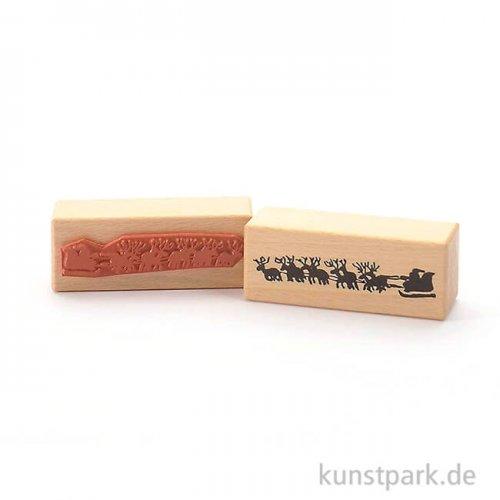 Judi-Kins Stamps - Rentierschlitten - 3x8 cm