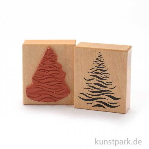 Judi-Kins Stamps - Weihnachtsbaum in Wellen - 7x8 cm