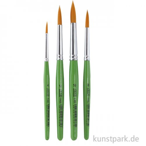 Juniorpinsel A400 Set1, 4 runde Pinsel