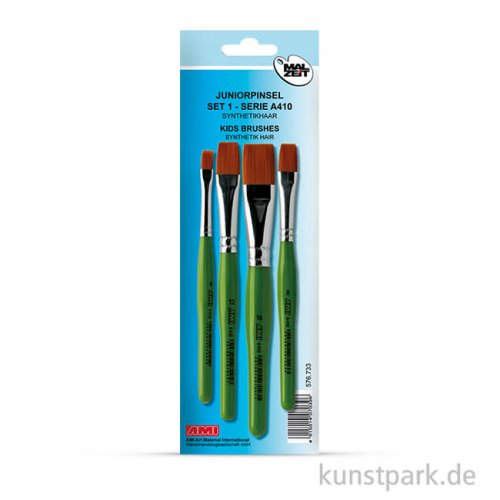 Juniorpinsel A410 Set1, 4 flache Pinsel