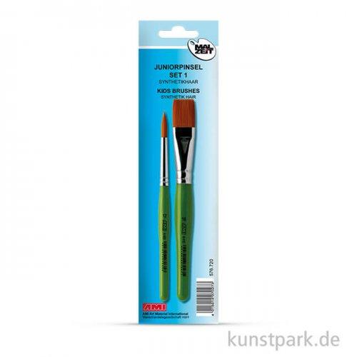 Juniorpinsel Set1, 1 Rundpinsel, 1 Flachpinsel