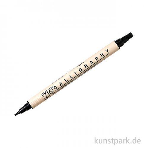 Kalligraphie-Stift Metallic mit zwei Spitzen schwarz