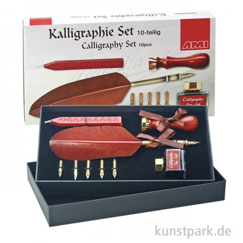 Kalligraphie-Set 10-teilig mit Feder