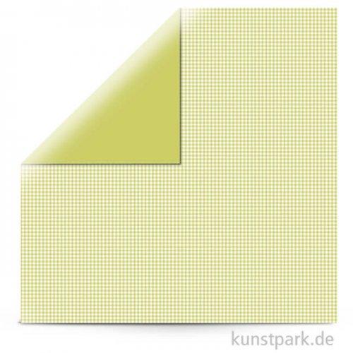Kariert - Scrapbookingpapier, 190 g 30,5 x 30,5 cm | Lindgrün
