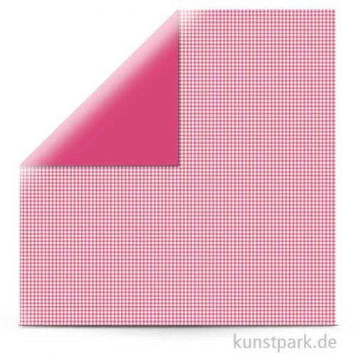 Kariert - Scrapbookingpapier, 190 g 30,5 x 30,5 cm | Red Magma