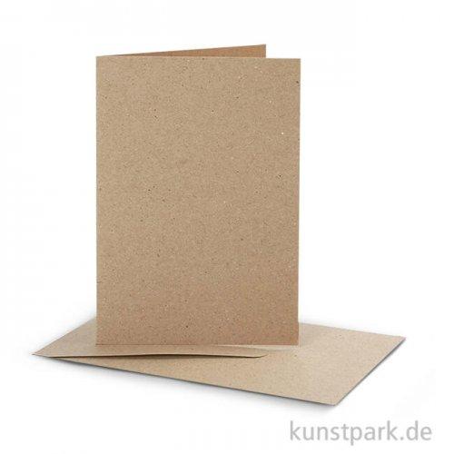Karte mit Umschlag - Natur, 10,5x15 cm, 10 Stück
