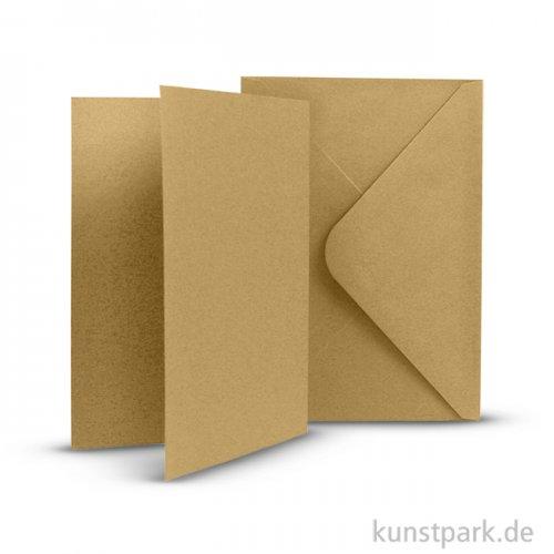 Karten und Kuverts, 6 Sets 15 x 10.5 cm | Natur