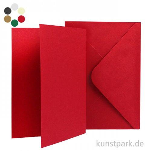 Karten und Kuverts, 6 Sets