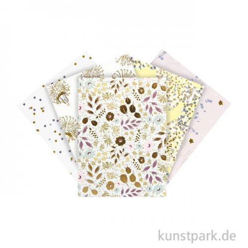 Kartenset DIN A7 - Bouquet Sauvage, 5 Karten mit Umschlag