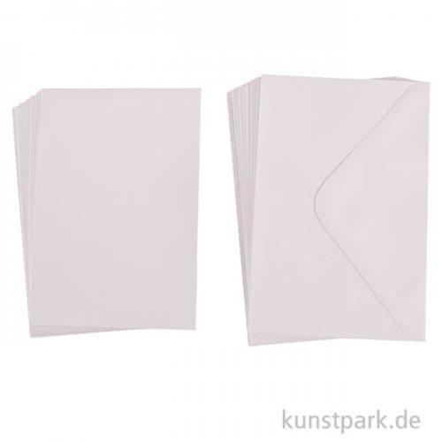 Kartenset - Weiß mit 15 Karten + 15 Kuverts, Größe B6