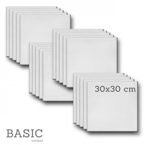 Keilrahmen-Set BASIC, 20 Stück - 30 x 30 cm