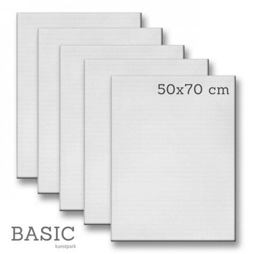 Keilrahmen-Set BASIC, 5 Stück - 50 x 70 cm