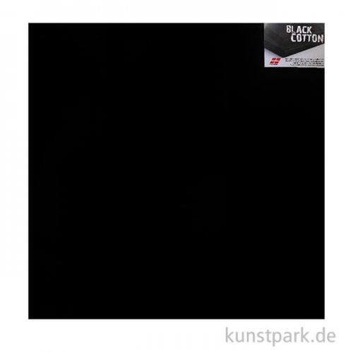 Keilrahmen schwarz - BLACK COTTON - 1,7 cm 80 x 80 cm **