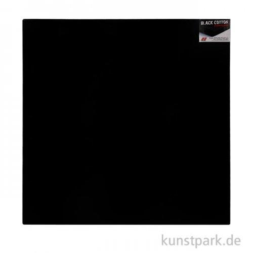 Keilrahmen schwarz - BLACK COTTON, Vernissage - 4,5 cm 80 x 80 cm *