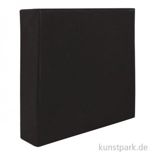 Keilrahmen schwarz - BLACK COTTON, Vernissage - 4,5 cm