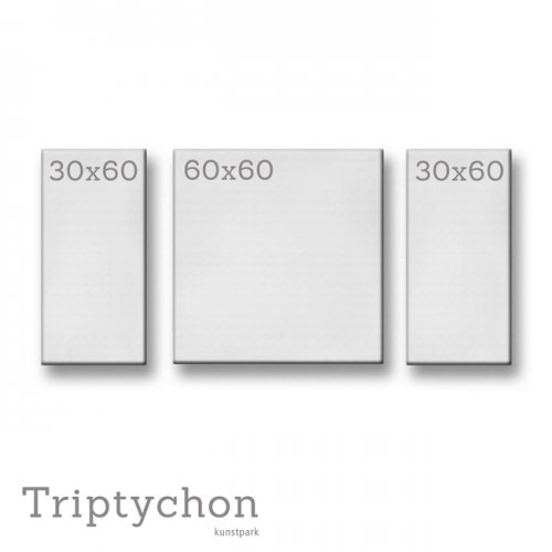 Keilrahmenset Triptychon - 120 x 60 cm