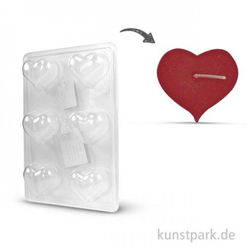 Kerzengießformen für Schwimmkerzen - Herz