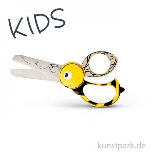 Kinderschere mit Bienenmotiv, Länge 13 cm