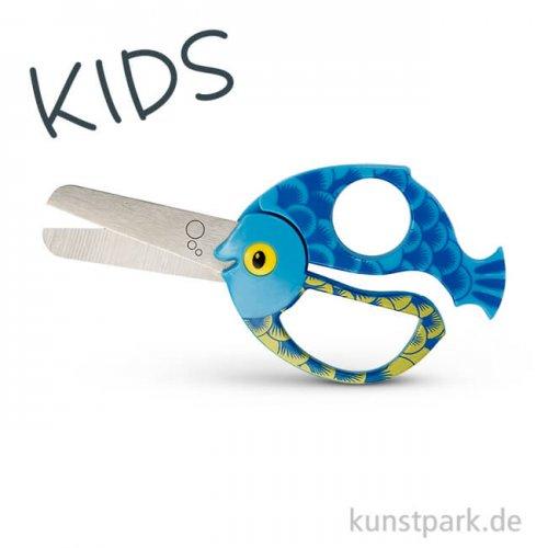 Kinderschere mit Fischmotiv, Länge 13 cm