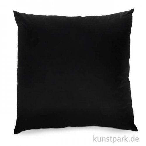 Kissenbezug schwarz mit Reißverschluss, 40x40cm