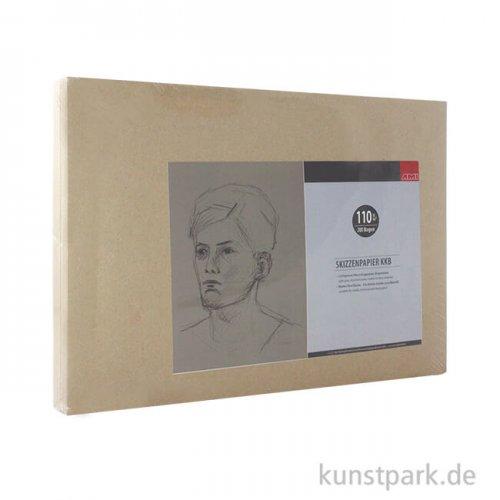 KKB Zeichenpapier Bogenware, 110 g DIN A3 - 200 Blatt