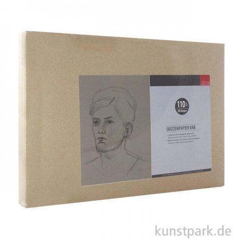 KKB Zeichenpapier Bogenware 110 g