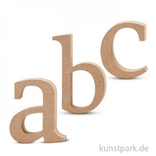 Kleinbuchstaben aus Holz, 8 - 15 cm