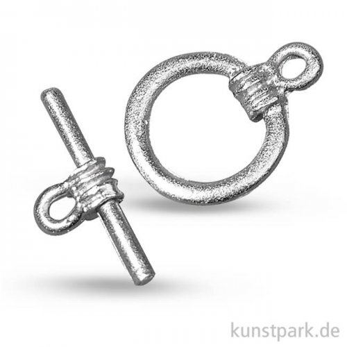 Knebelverschluss Platin, 14mm Durchmesser