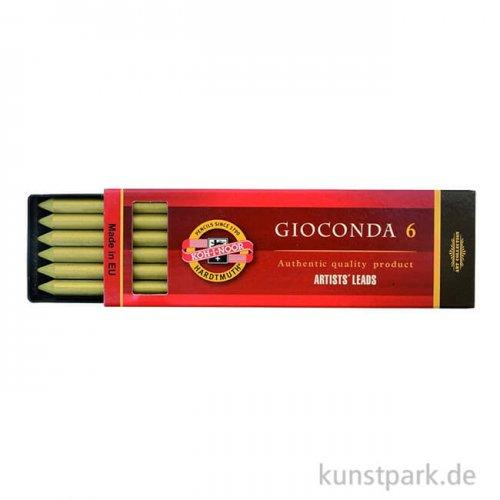 Koh-I-Noor Farbminen METALLIC Gold, 5,6 mm, 6 Stück