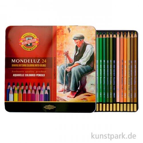 Koh-I-Noor MONDELUZ Aquarellstifte, 24 Stifte im Metalletui