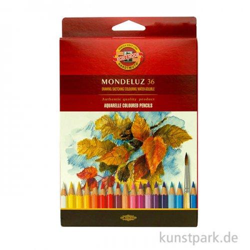 Koh-I-Noor MONDELUZ Aquarellstifte, 36 Stifte im  Karton