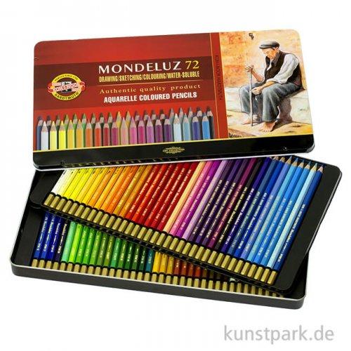 Koh-I-Noor MONDELUZ Aquarellstifte, 72 Stifte im Metalletui