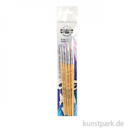 Koh-I-Noor Pinselset SYNTHETIC, 5 Rundpinsel, Größen 2, 4, 6, 10 und 12