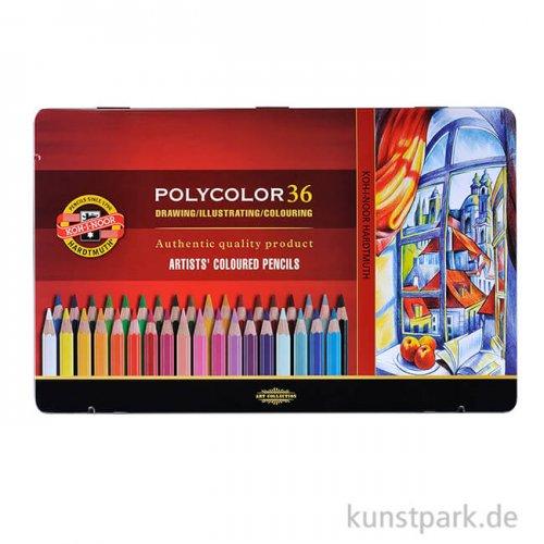 Koh-I-Noor POLYCOLOR, 36 Künstlerfarbstifte im Metalletui