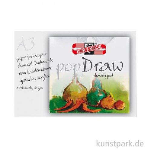 Koh-I-Noor - Pop Draw Papier, 30 Blatt Weiß, 180g